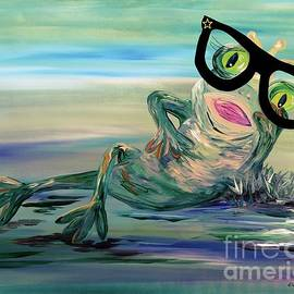 Hipster Frog Princess by Eloise Schneider Mote