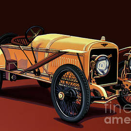 Paul Meijering - Hispano Suiza T15 Alfonso Xlll 1912 Painting
