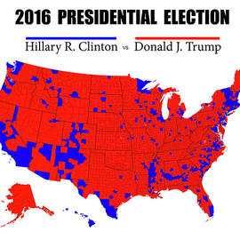 HISTORIC 2016 PRESIDENTIAL ELECTION MAP
