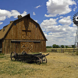 Historic Barn and Windmill by Sally Weigand