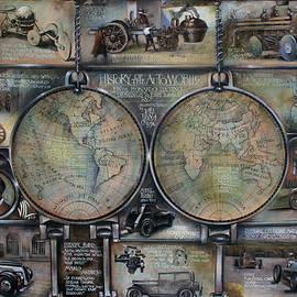 Vali Irina Ciobanu - History of the automobile from leonardo da vinci drawing to first formula 1 race map on leatheder