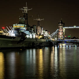 Len Brook - HMS Belfast and Tower Bridge, London