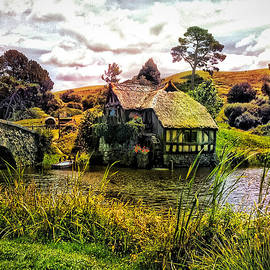 Hobbiton Mill and Bridge by Kathy Kelly