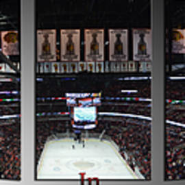 Hockey In Chicago Triptych 3 Panel by Thomas Woolworth