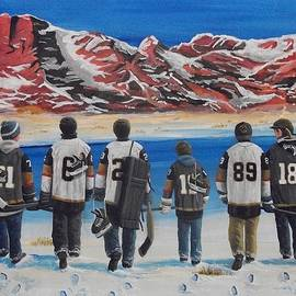 Hockey In The Desert by Ron Genest