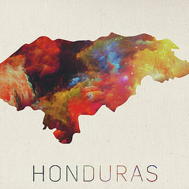 Design Turnpike - Honduras Watercolor Map