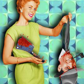 Honey I'm Home 1950s Severed Head by Tony Rubino