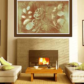 Honey Rose Digital Art Display by Delynn Addams