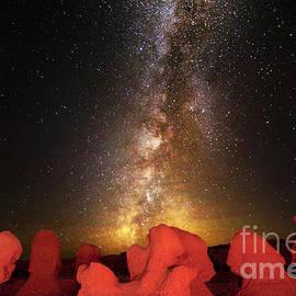 Hoodoos And Milky Way In Utah by Bret Webster