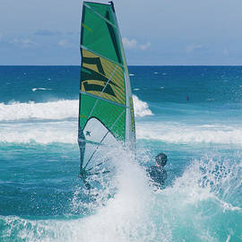 Hookipa Windsurfing North Shore Maui Hawaii by Sharon Mau