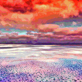 Horizon Beach Ocean Landscape by Mary Clanahan