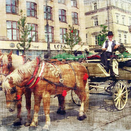 Horse -Drawn Carriage by Grace Iradian