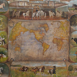 Horses around thr world by Vali Irina Ciobanu