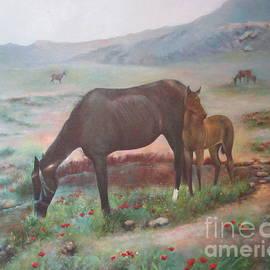 Farideh Haghshenas - Horses Grazing