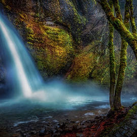 Horsetail Falls Winter by Mike Penney