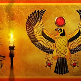 Horus Falcon God by John Wills