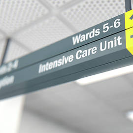 Hospital Directional Sign Intensive Care Unit - Allan Swart