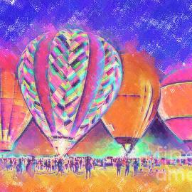 Kirt Tisdale - Hot Air Balloons Night Festival In Pastel