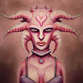 Hot Grunge Alien Medusa  by Rui Barros