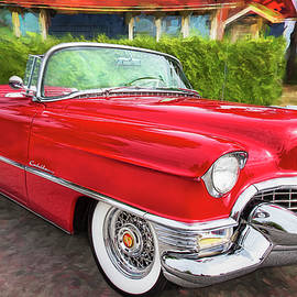 Peggy Collins - Hot Red 1955 Cadillac Convertible