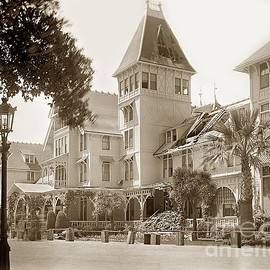 Hotel Del Monte after the 1906 earthquake by California Views Archives Mr Pat Hathaway Archives