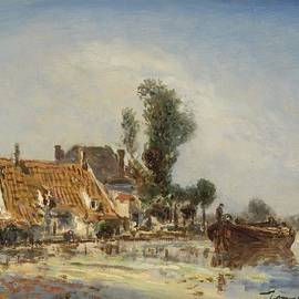 Johan Barthold Jongkind - Houses on a Waterway near Crooswijk