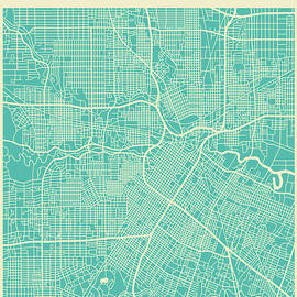 HOUSTON STREET MAP - Jazzberry Blue