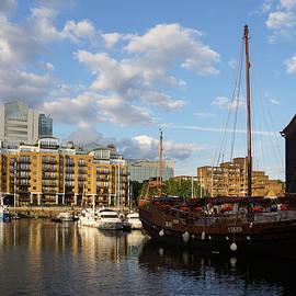 Huantian - Chinese Junk Sailing Vessel at St Katharine Docks London U K by Georgia Mizuleva