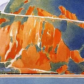 Hudson River - New York Central Lines - Railway, Railroad - Retro travel Poster - Vintage Poster - Studio Grafiikka