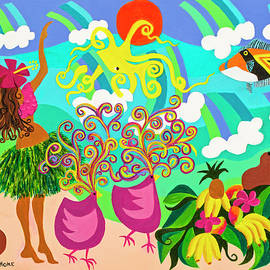 Nancy Hoke - Hula with Octopus