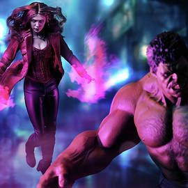 Hulk And Scarlet Witch by Pete Tapang