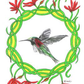 Hummingbird In Knots by Lise Winne