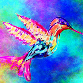 Abstract Angel Artist Stephen K - Hummingbird in Summer sky