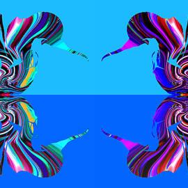 Abstract Angel Artist Stephen K - Hummingbirds over water