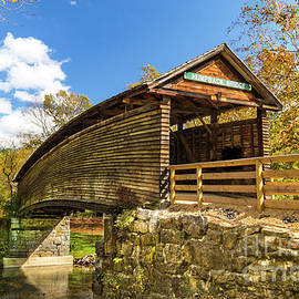 Humpback Covered Bridge in Autumn Colors by Norma Brandsberg