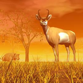 Hunting scene in the nature by Elenarts - Elena Duvernay Digital Art