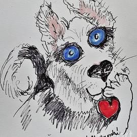 Husky Love by Geraldine Myszenski