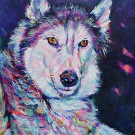 Huskys Are The Best by Karin McCombe Jones