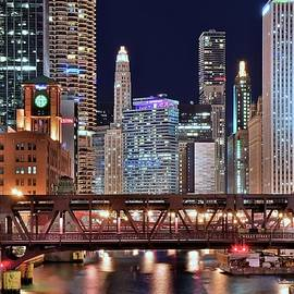 Frozen in Time Fine Art Photography - Hustle and Bustle Night Lights in Chicago