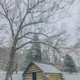 Jeff Oates Photography - Hut in the Snow Storm