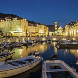 Hvar, Croatia Twilight by Lindley Johnson