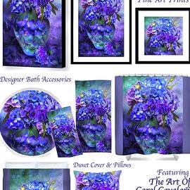 Hydrangeas In Hydrangea Vase Decorator Colleciton by Carol Cavalaris
