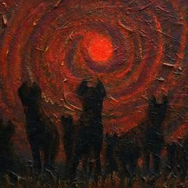 Hyena Sundown by Philip Harvey
