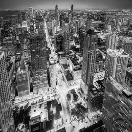 I Am Too Color Blind - Black and White - Chicago Skyline by Scott Campbell