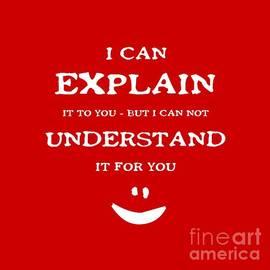 John Stephens - I Can Explain It White Letters
