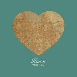 I Heart Hanoi Vietnam Street Map Love Series No 084 - Design Turnpike