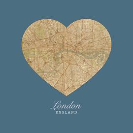 I Heart London England Street Map Love Series No 086 - Design Turnpike
