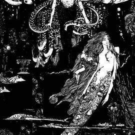 I know what you want said the sea witch, illustration for The Little Mermaid  - Harry Clarke