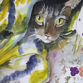 I see you .Modern pet portrait in watercolor. by Vali Irina Ciobanu