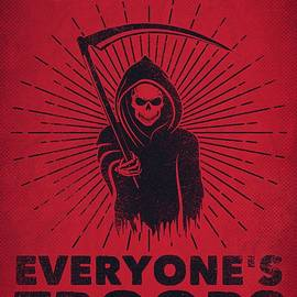 I Support Everyone's Troops Political Statement Grim Reaper  by Philipp Rietz